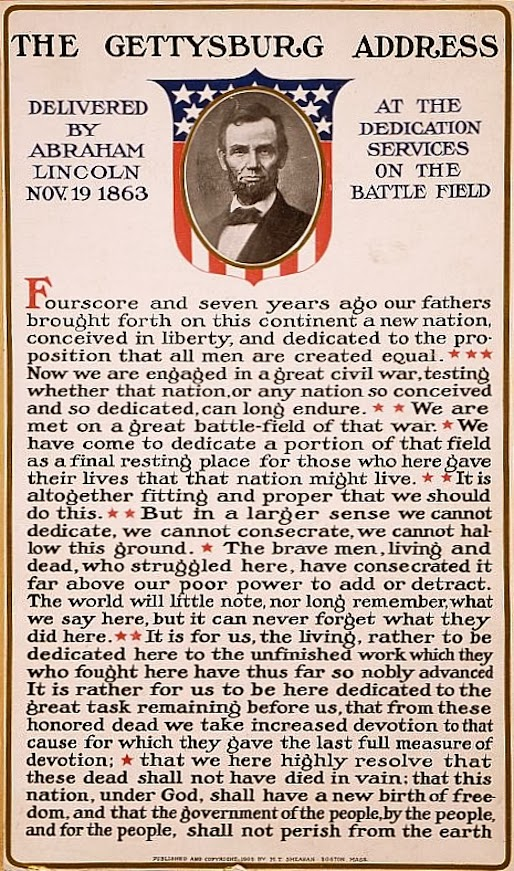 abraham lincoln speech President abraham lincoln's speech the gettysburg address  1863 four score  and seven years ago our fathers brought forth on this continent, a new nation,.