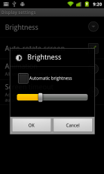 Screen brightness setting