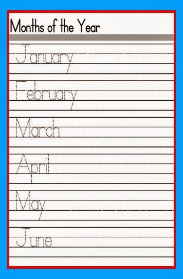 Kindergarten Handwriting Printables