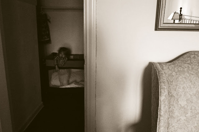© 2012 Amber Schley Iragui, closet with child and mirror