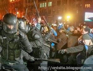 """Майдан разгонял крымский """"Беркут"""""""
