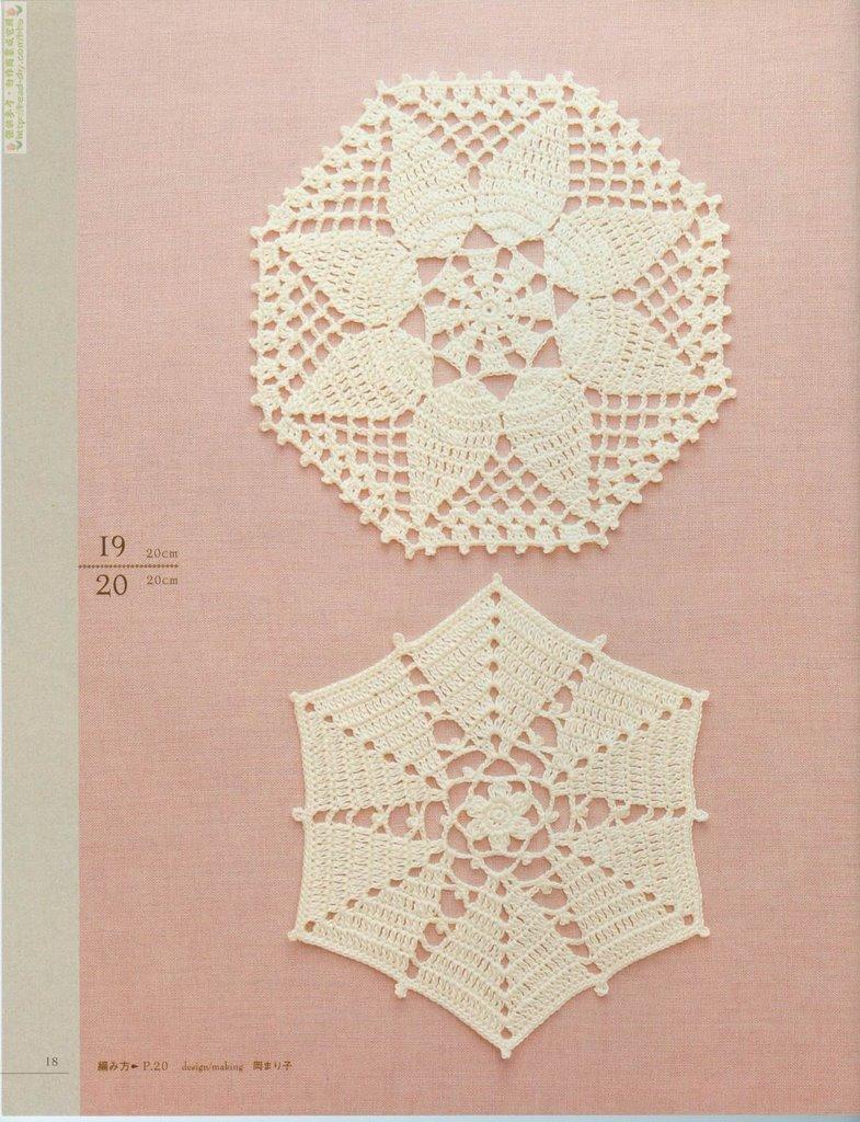 Patrones: hermoso trabajo de encaje al crochet - Tejido Facil