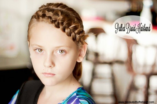 Pulled Braid Hairband Tutorial by Measured by the Heart - and tons of other hair tutorials!