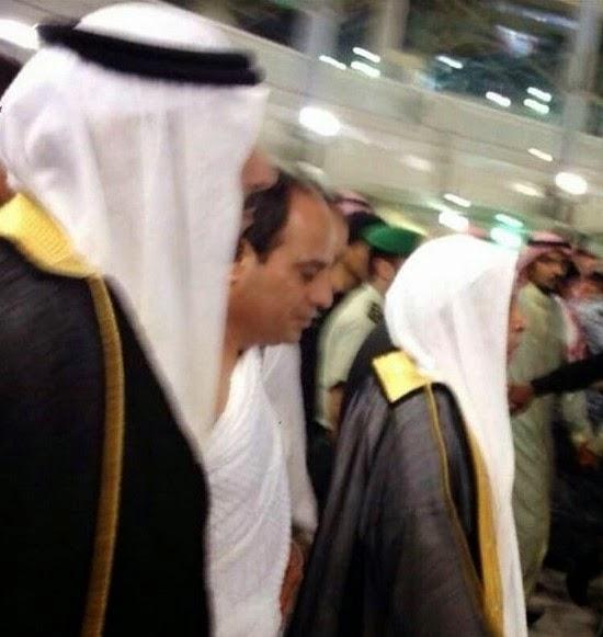 تفاصيل زيارة السيسي للسعودية وآداءه العمرة