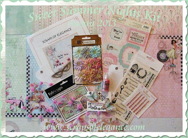 Scraps of Elegance Sweet Summer Nights kit - August 2013