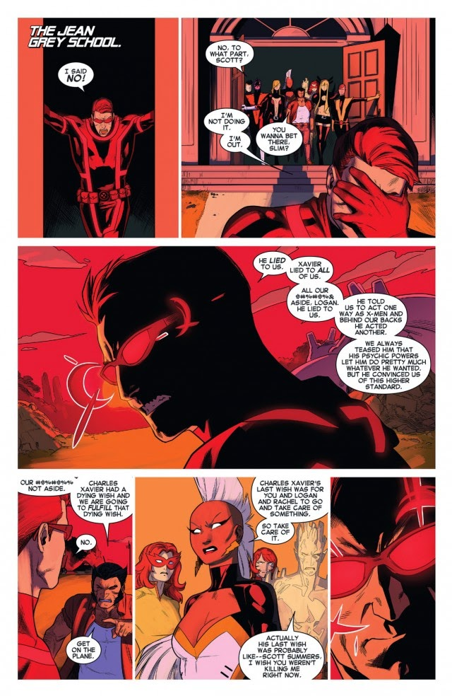 Cyclops cant handle the truth about Xavier