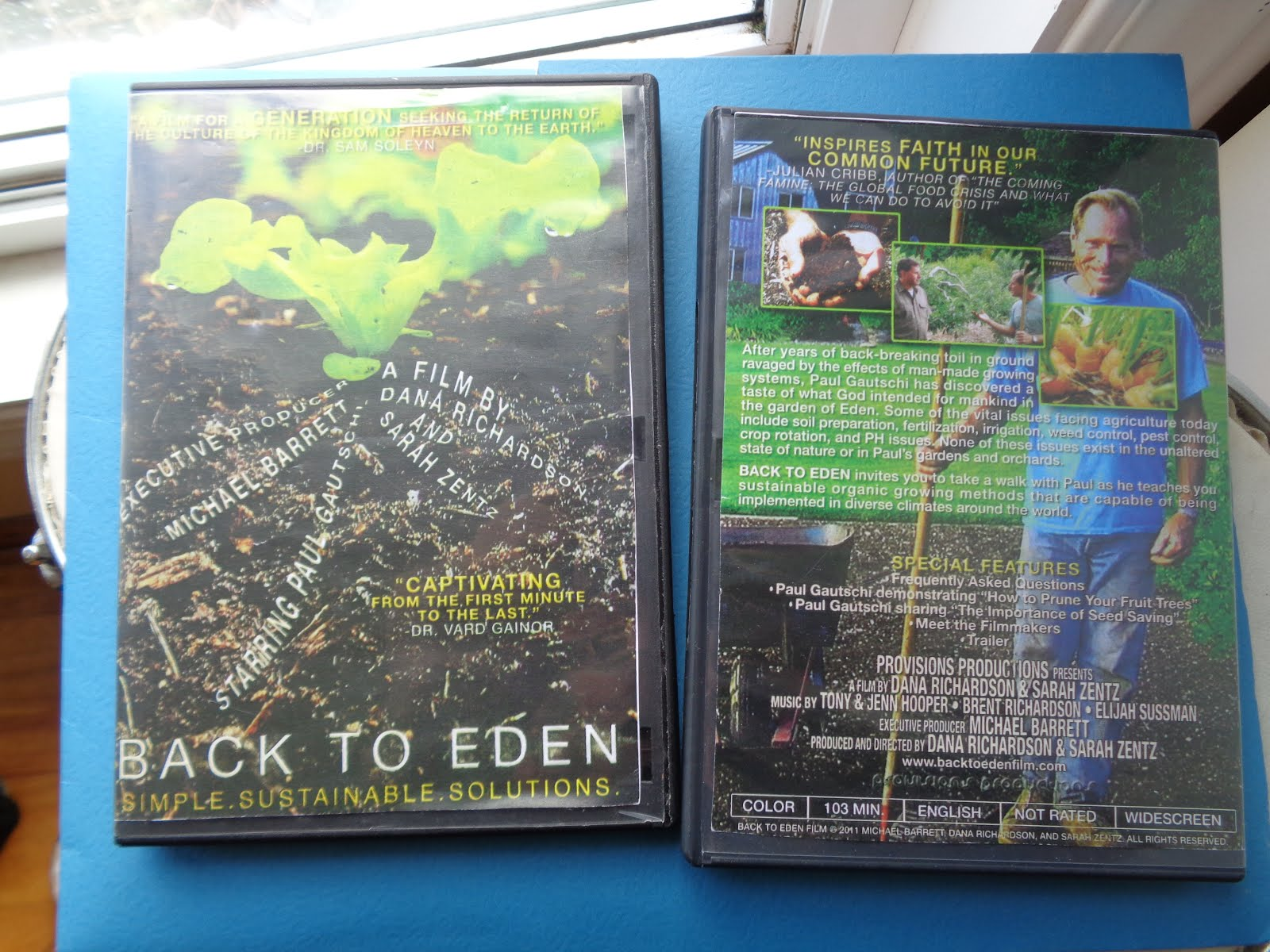 Back to Eden Film - DVD on gardening click pic