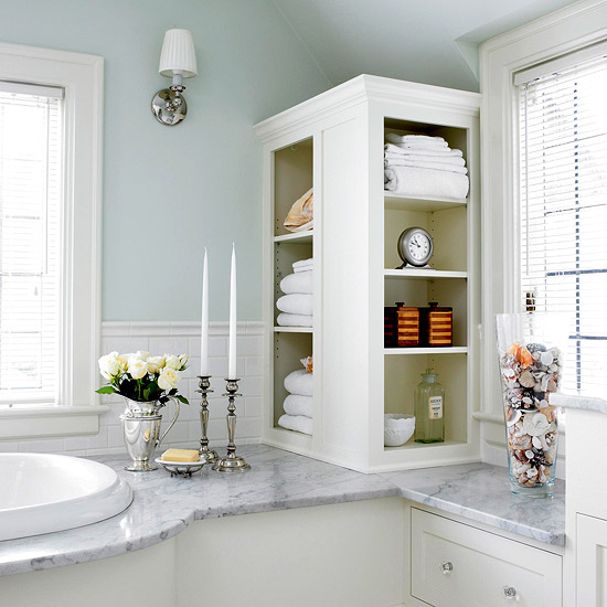 Luxury Bathroom Storage Solutions For Small Spaces  Ward Log Homes