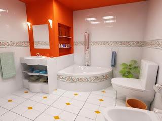 Keramik Minimalis Orange