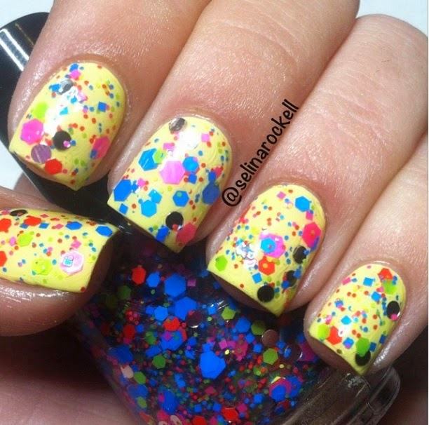Circus Clown In Town  Glitter Topper Nail Polish By Glitter Lambs