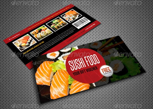 10 Best Restaurant / Food Voucher Psd Template - Bestgraphicdesign