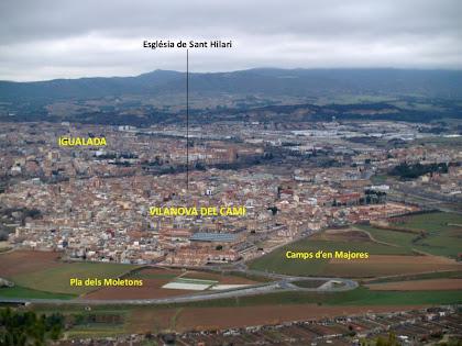 Una altra vista panoràmica de la Conca d'Òdena des del Pujol de la Guàrdia