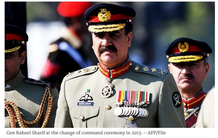 the ex army chief...