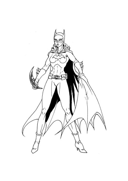 batwoman coloring pages - for kids batgirl coloring pages disney coloring pages