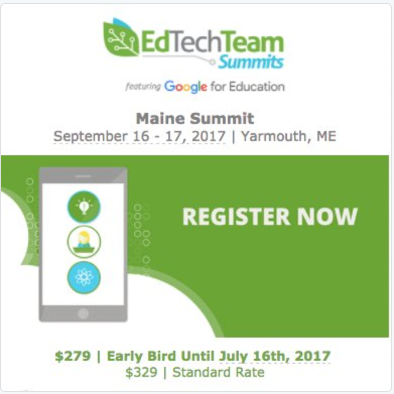 NEW!!! EdTechTeam Maine Summit