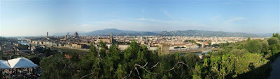panorama, view of florence italy