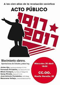 """Acto """"Movimiento Obrero. Aportqciones de Octubre y retos de hoy"""""""