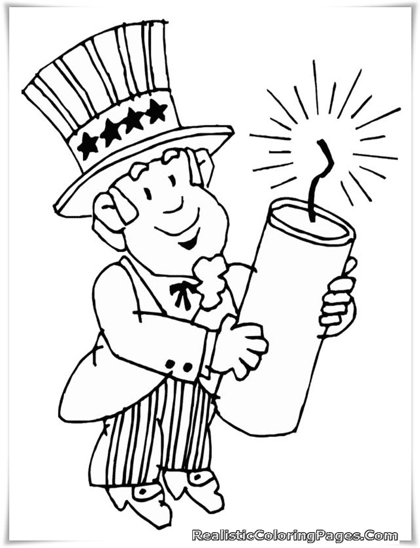 fourth of july coloring pages realistic coloring pages