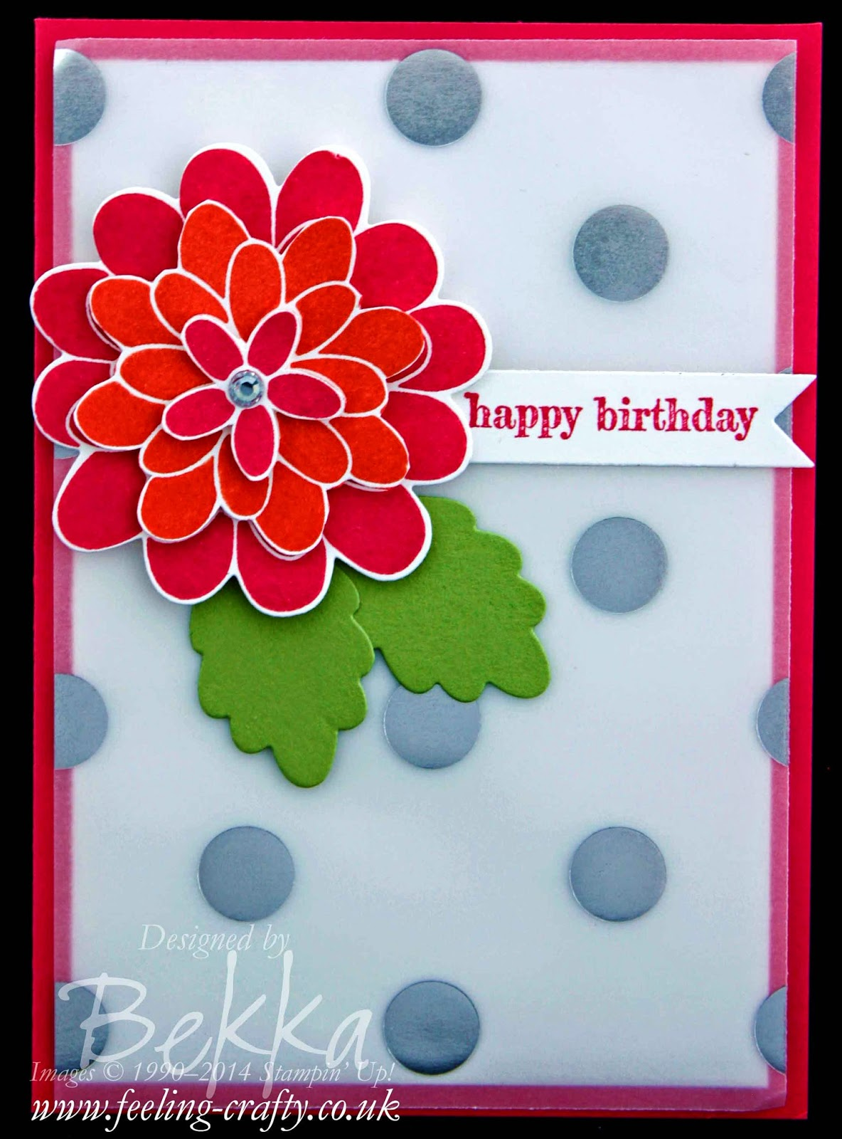 Flower Patch Birthday Card by Stampin' Up! UK Independent Demonstrator Bekka - check out her blog