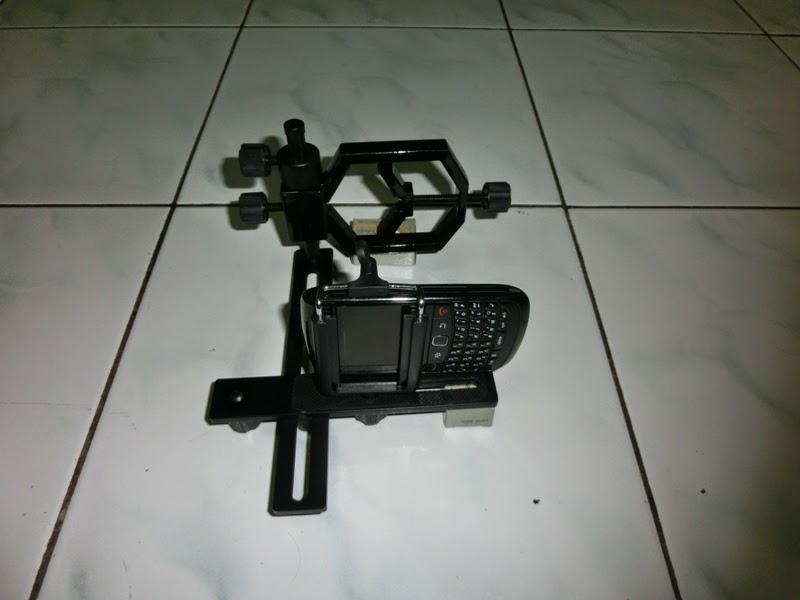 Mounting kamera & hp senapan angin