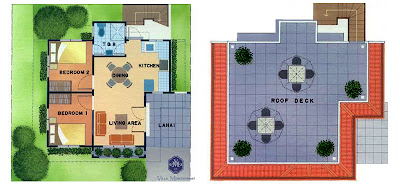 Redwood House Model Floor Plan at Villa Montserrat Taytay