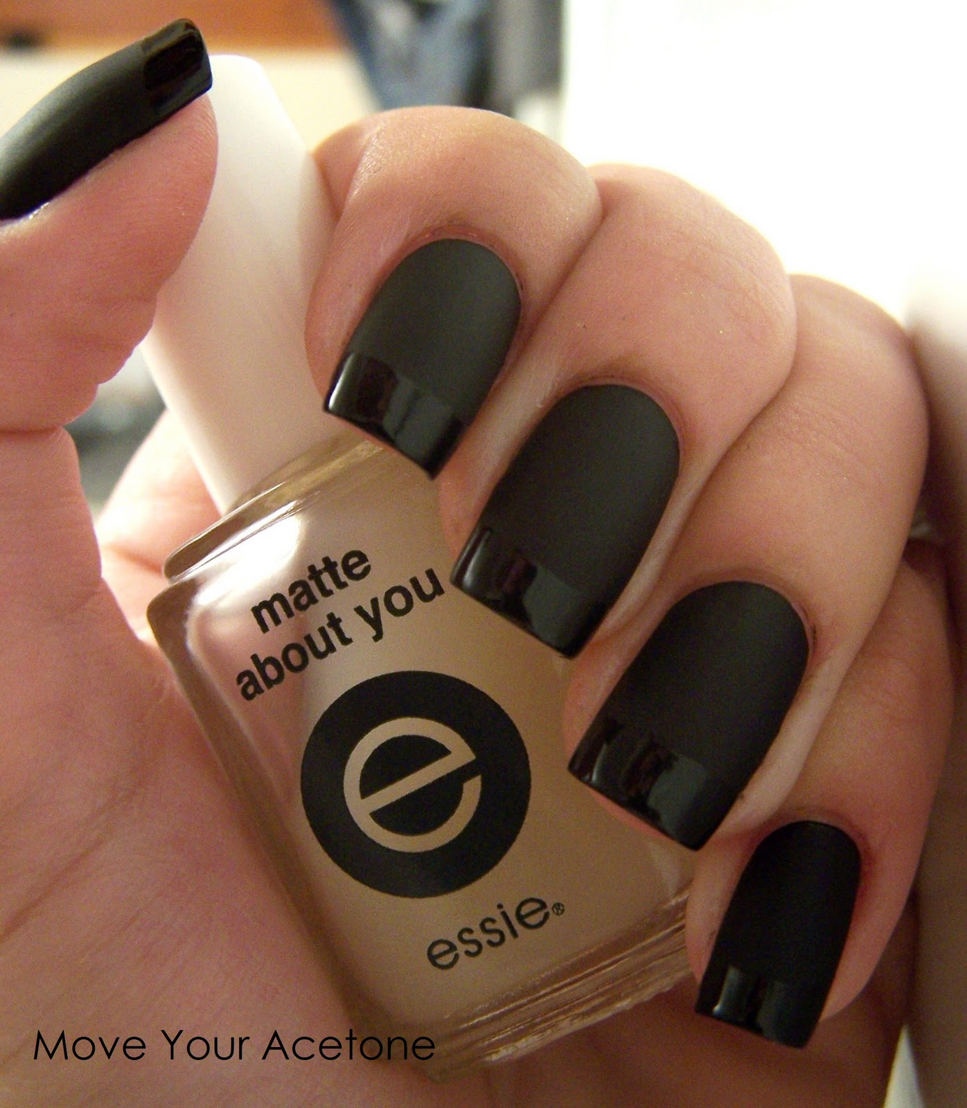 Move Your Acetone: Matte with gloss tips