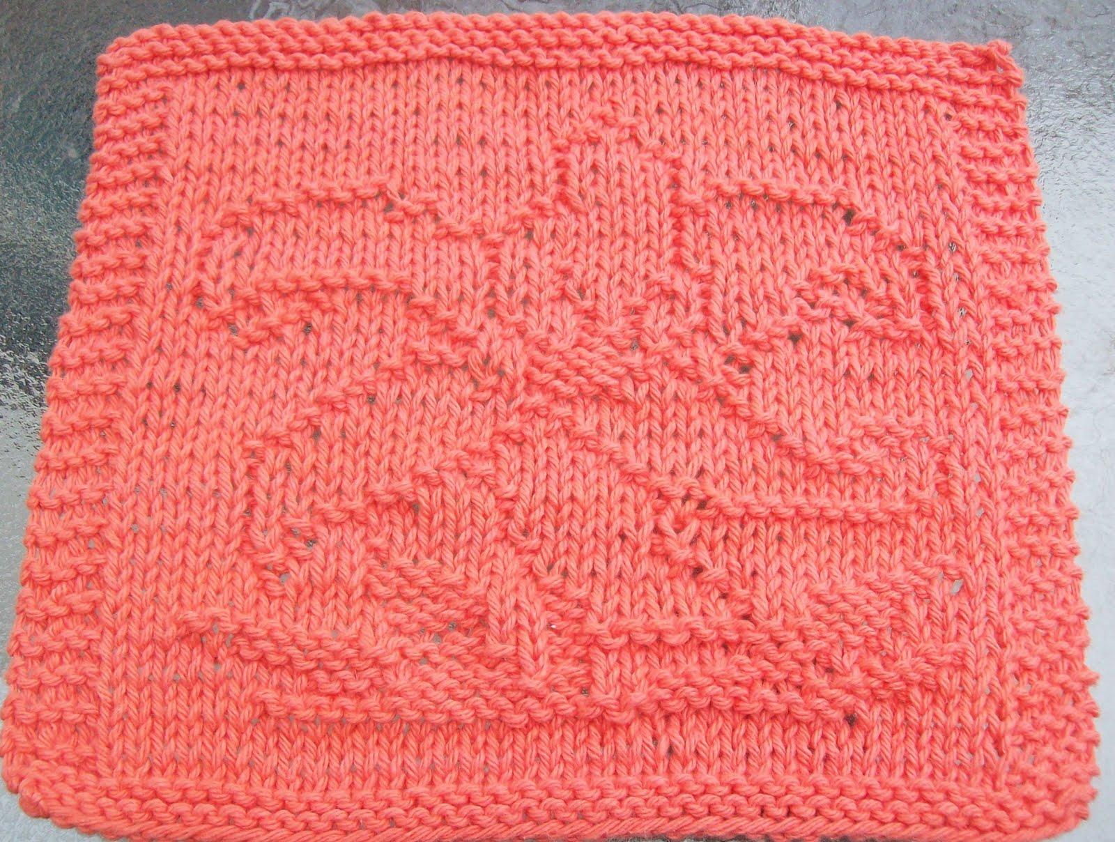 DigKnitty Designs: Lily Knit Dishcloth Pattern