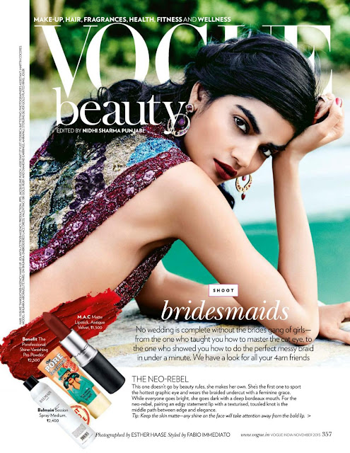 Fashion Model @ Bhumika Arora - Vogue India, November 2015