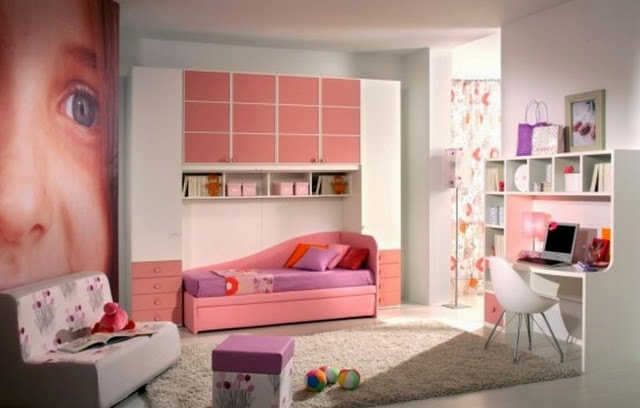Orange teenage bedroom ideas for girls