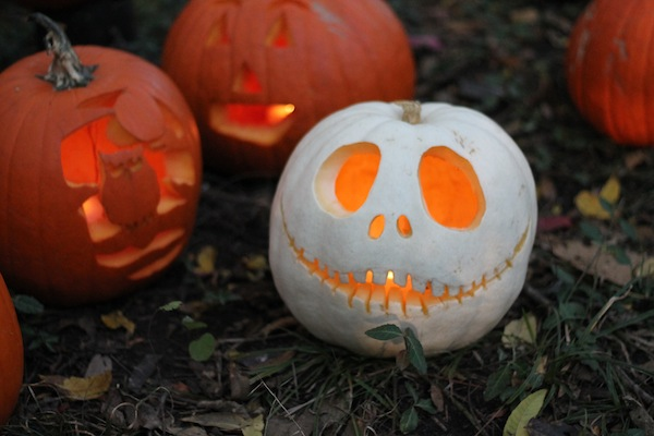Pumpkin carving and decorating ideas White pumpkin carving ideas