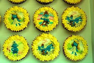 Cupcakes Los Pitufos para Fiestas Infantiles