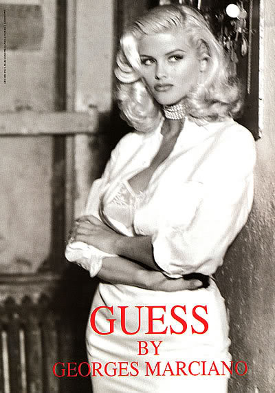 Anna nicole smith guess jeans
