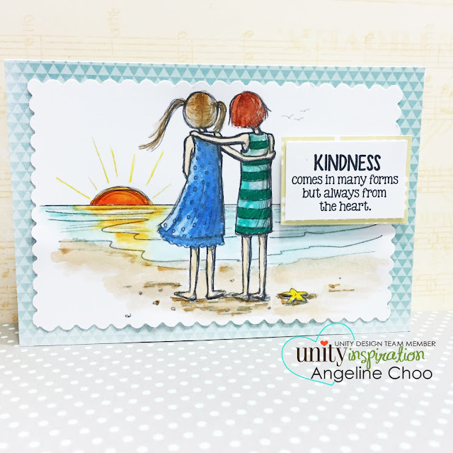 ScrappyScrappy: Unity Stamp Brown Thursday hop - Kindness #scrappyscrappy #unitystampco #stamp #zigcleancolor #kuretake #christmas #friends #card #friendship #phyllisharris #kindness