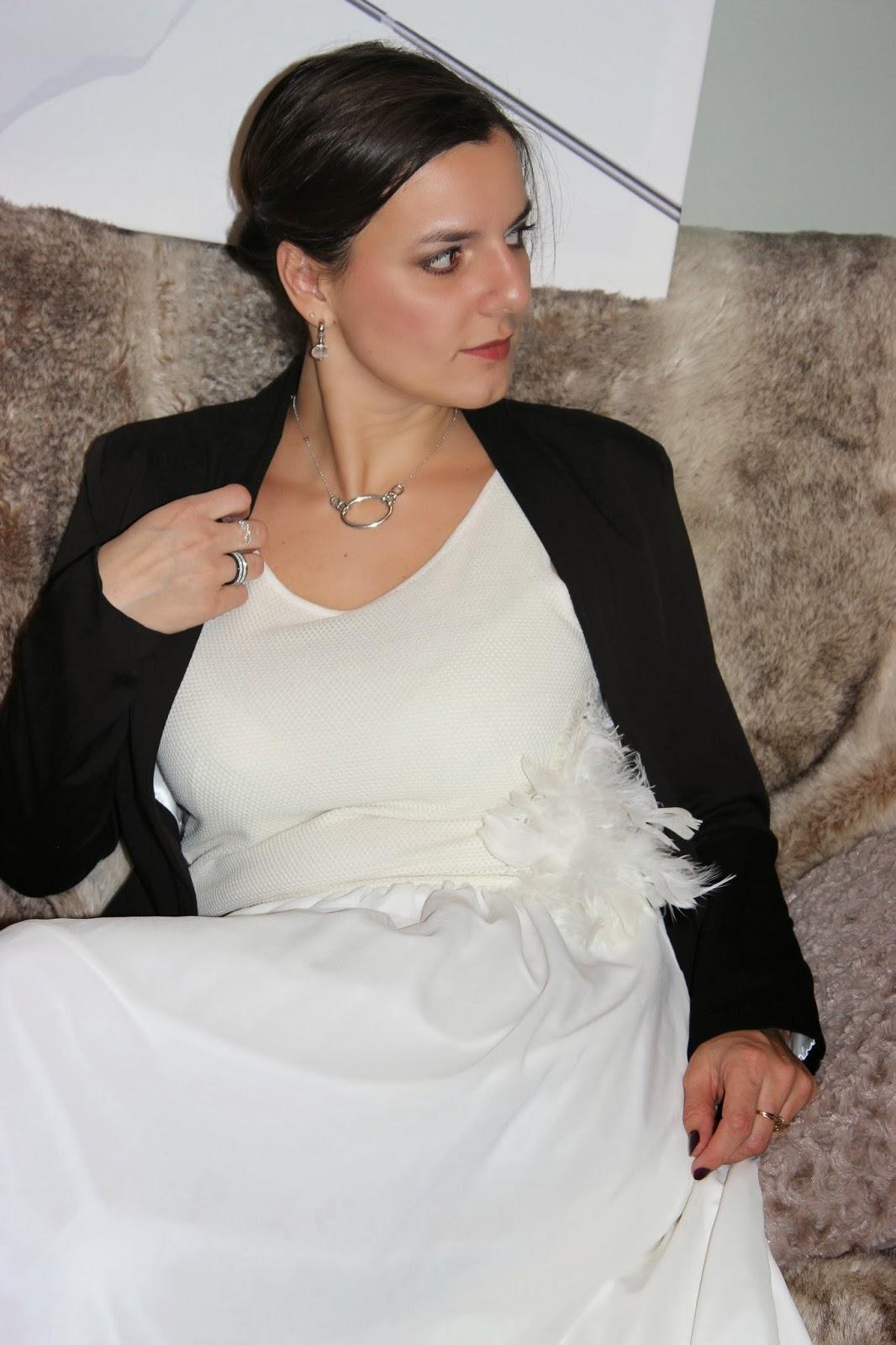 robe blanche naf naf veste persunmall