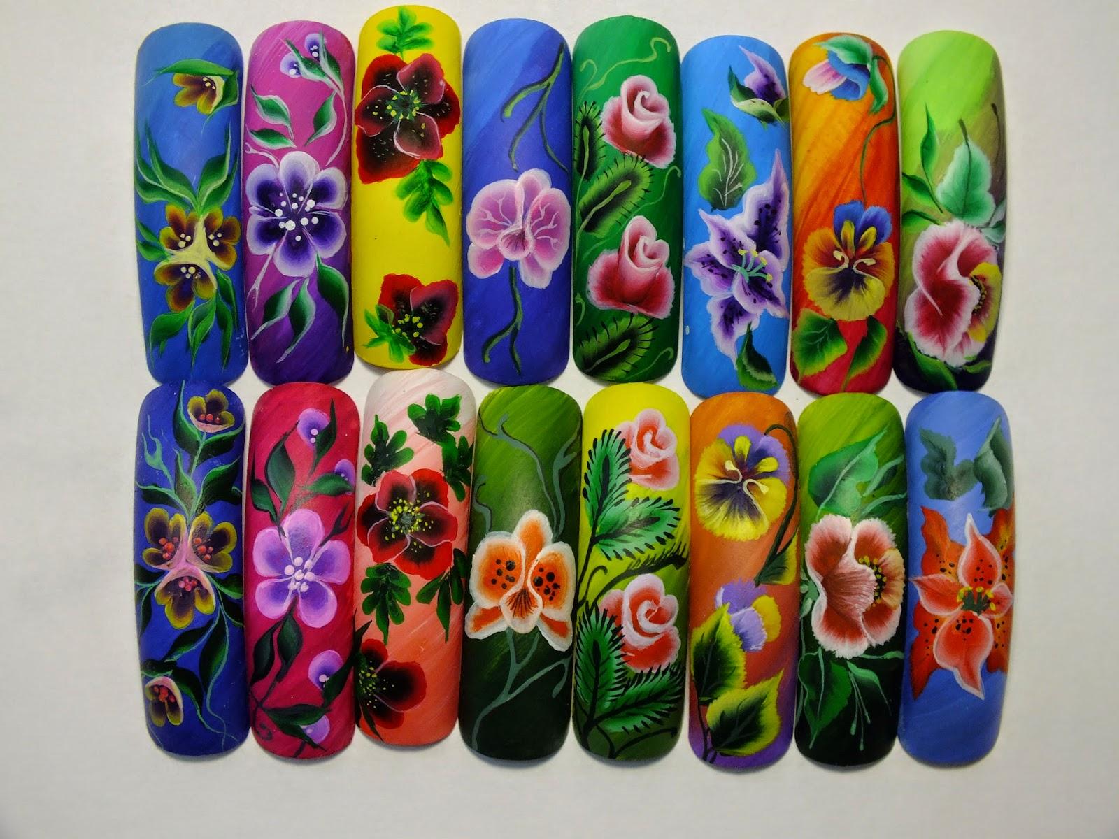 Китайская роспись ногтей бабочка фото