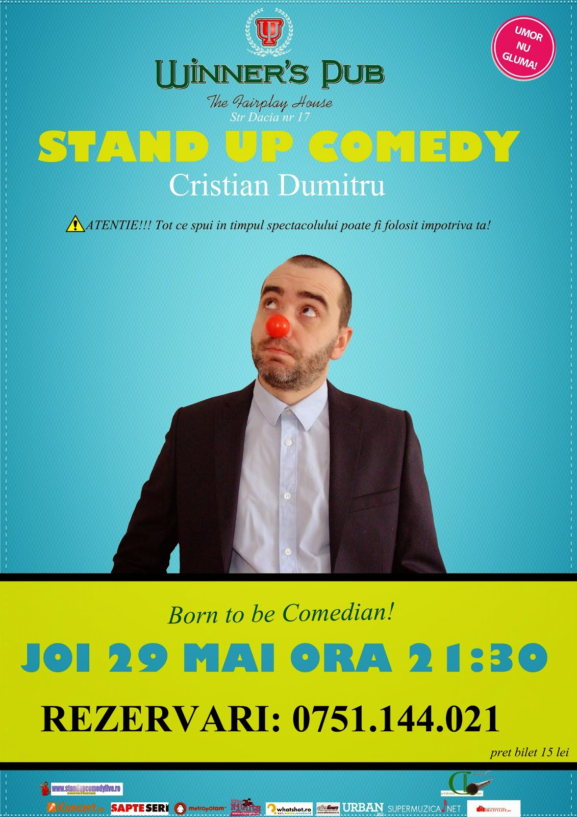 stand-up comedy ramnicul valcea joi 29 mai