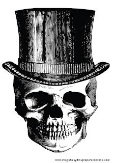 Calavera con sombrero
