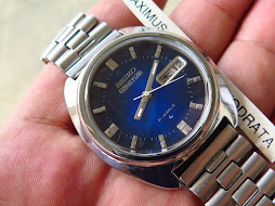SEIKO 5 ACTUS SUNBURST BLUE DIAL PRISMA GLASS - AUTOMATIC 7019 7350