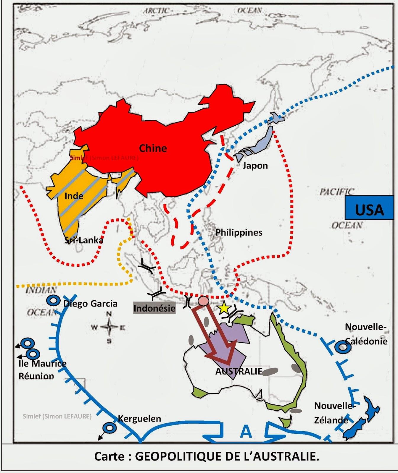 Carte Australie Chine.Le Sanctuaire Aux Idees Geopolitique De L Australie Carte