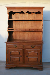 wood hutch and credenza...SOLD