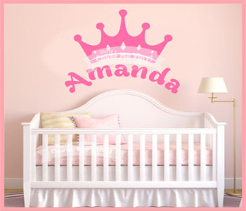 Princess Name Wall Decal