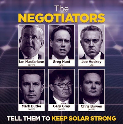 Negotiators of the Renewable Energy Target - MacFarlane, Hunt, Hockey, Butler, Gray and Bowen