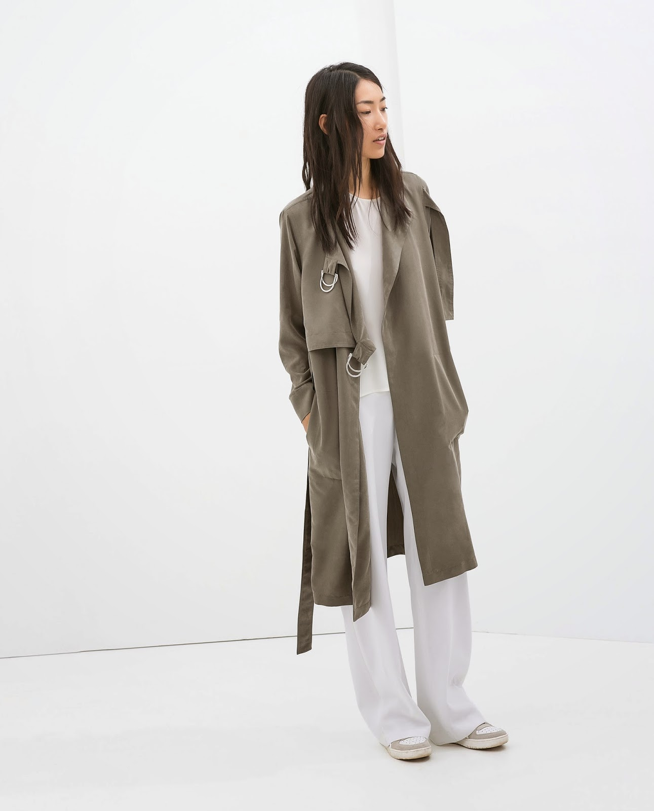 zara grey trench coat