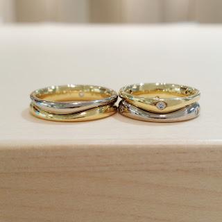 結婚指輪 シンプル フラージャコー 人気 ゴールド プラチナ 鍛造 スイス ダイヤ