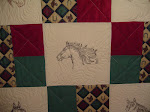 QFC Horse Quilt #1 - up close