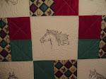 QFC Horse Quilt #1 - up close