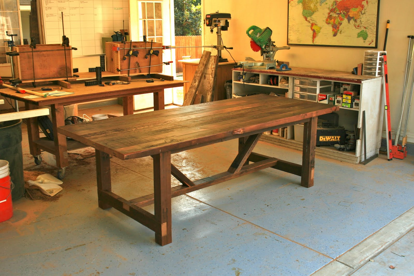 Charmant We Finished This 8u0027 Trestle Table + Bench For A Client From Topanga Canyon  On Friday. The Table Top Features Old Growth Doug Fir That Was Salvaged  From A ...