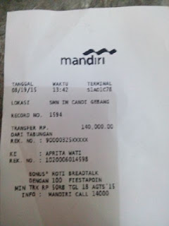 Bukti transfer pembayaran jersey di enkosa sport oleh Rama Dhani di enkosa sport toko online jersey bola terpercaya