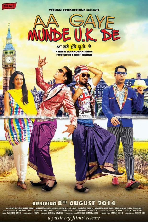 Aa Gaye Munde UK de poster