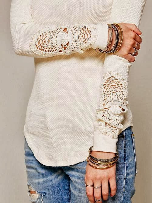 "Lace Sweater-""Love the lace on this!"""